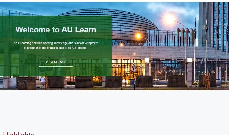 interactive eLearning training African Union Youth Division